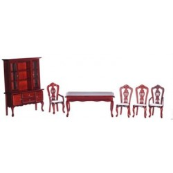 DINING ROOM SET/6/MAHOGANY