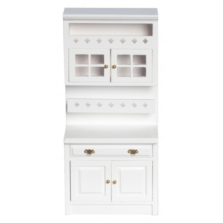 CABINET W/SHELVES, WHITE