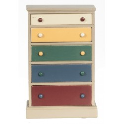CHEST, 5-DRAWER, PAINTED