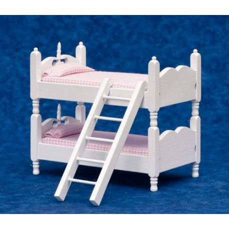 BUNKBEDS W/LADDER-BLUE & WHITE