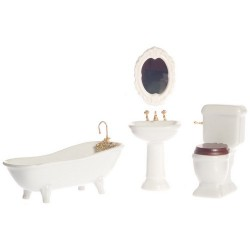 PORCELAIN BATH SET/4/WHITE