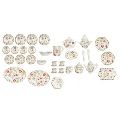 40 Pc Flower Dinner Set