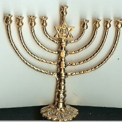 GOLD LARGE MENORAH