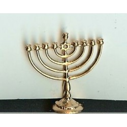 SMALL GOLD MENORAH