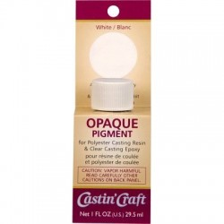 1 OZ RESIN PIGMENT-WHITE OPAQUE