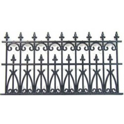 FENCE 3-1/2 INCH ORNATE BLACK PLASTIC, 2