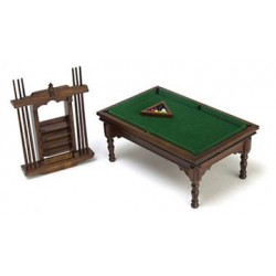 WALNUT POOL TABLE SET