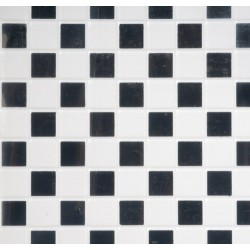 BLACK & WHITE VINYL TILE FLOOR