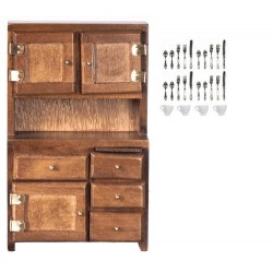 HUTCH W/ACCESSORIES/WALNT