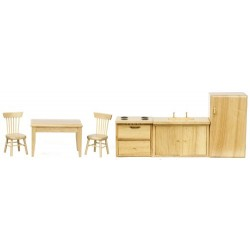 6pc KITCHEN SET/OAK/BOX
