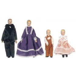 4 PC PORC.DOLL FAMILY