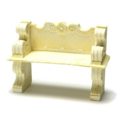 VICTORIAN BENCH/IVORY/2