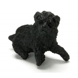 SITTING POODLE/BLACK