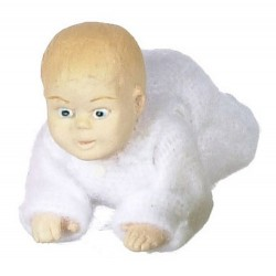 CRAWLING BABY/WHITE
