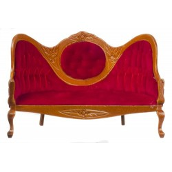 MIRRORBACK SOFA/RED