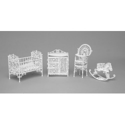 NURSERY SET/4/WHITE/CB