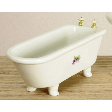 BATHTUB/WHITE W/DECAL