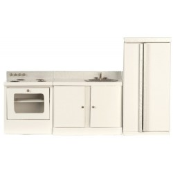 3pc KITCHEN SET/WHITE