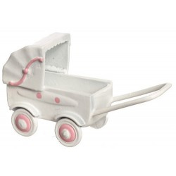 PK/WHITE BABY CARRIAGE