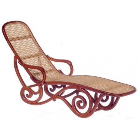 CHAISE LOUNGE/WICKER/WALN