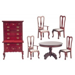 DINING ROOM SET/6/MAHOGAN