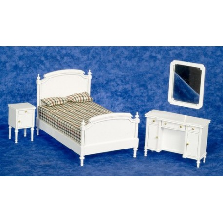 DOUBLE BED SET/4/WHITE