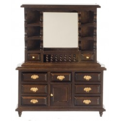 MIRROR DRESSER/WALNUT