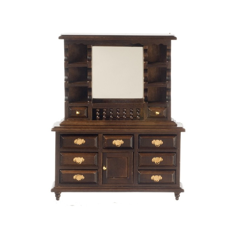 Mirror Dresser Walnut Dollhouse Dresser Superior