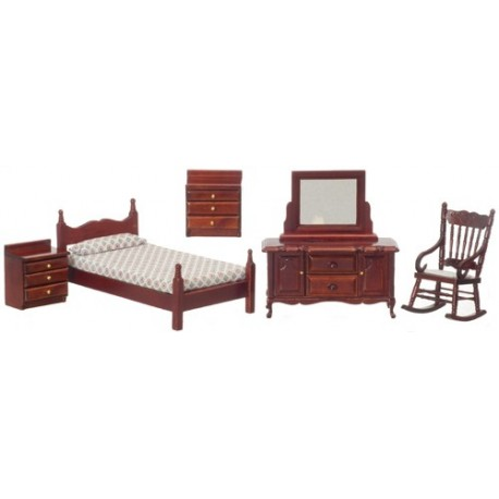 BEDROOM SET/5/MAHOGANY