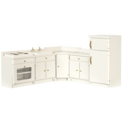 White-5 Pc Kitchen