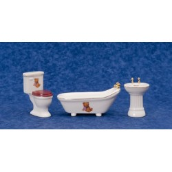 3Pc Bear Bath Set