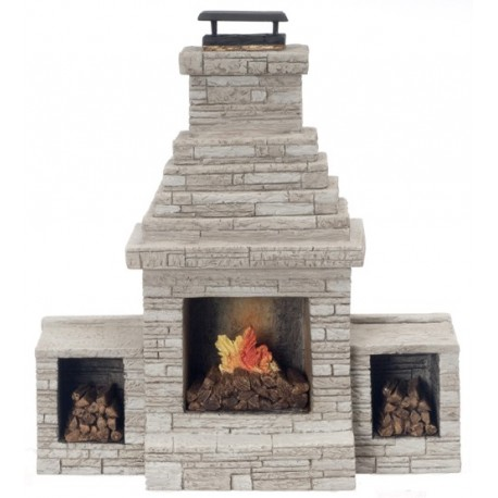 Large Outdoor Fireplace Dollhouse Miniature Fireplaces
