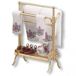BRASS TOWEL STAND SET
