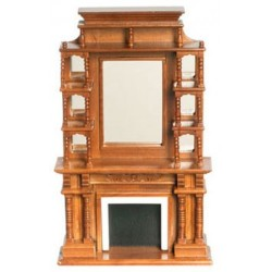Victorian Walnut Fireplace