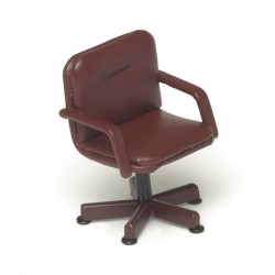LOBACK CHAIR/RED LEATHER