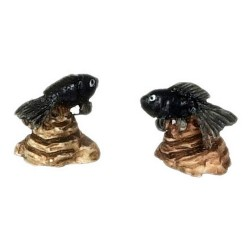 FISH ON ROCK/BLACK/2pcs