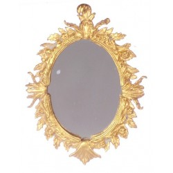 OVAL ANTIQUE MIRROR/ANTIQ