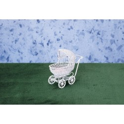 SMALL BABY BUGGY/WHITE/CB
