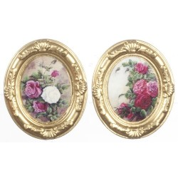 GOLD OVAL FRAMES/FLOWER/2