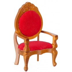 MIRRORBACK ARMCHAIR/RED
