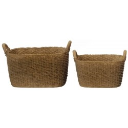Resin Oblong Baskets- 2 Pcs.