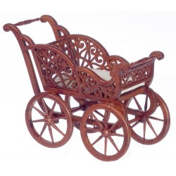 BABY CARRIAGE/WALNUT