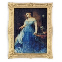 LADY IN BLUE PORTRAIT