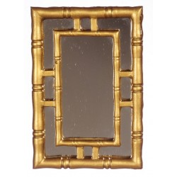 WALL MIRROR/GOLD