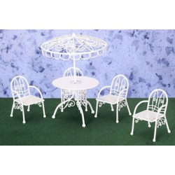 PATIO TABLE, 4 CHAIRS