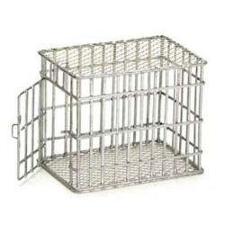 SMALL DOG CAGE, GALVANIZED