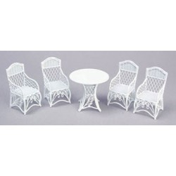 ROUND TABLE & CHAIR SET, 5PC
