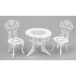 TABLE & CHAIR SET,  3PC, WHITE