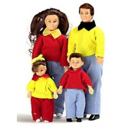 CASUAL DOLL FAMILY, 4PC, BROWN