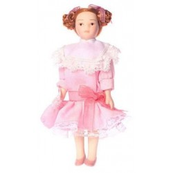 VICTORIAN GIRL IN PINK DRESS